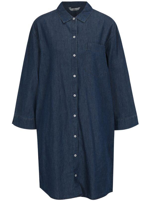 Tmavomodré košeľové šaty SH Bofete
