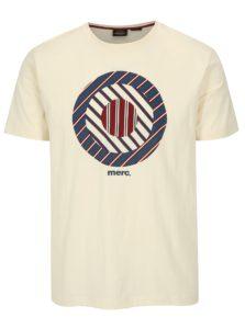 Krémové tričko s potlačou Merc