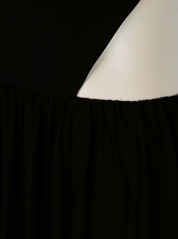 Čierne maxišaty s prestrihmi na chrbte SH Pereirde