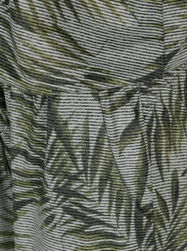 Zelený vzorovaný overal bez rukávov Yest