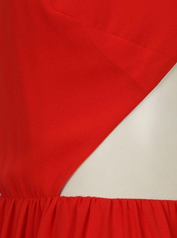 Červené maxišaty s prestrihmi na chrbte SH Pereirde