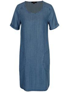 Modré rifľové šaty s vreckami Yest