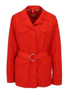 Červená dámska bunda s opaskom Geox