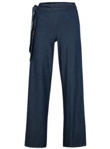 Tmavomodré voľné nohavice s vysokým pásom SH Itaberaba