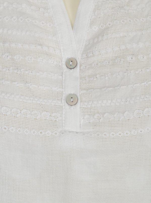 Biela blúzka s výšivkou Yest