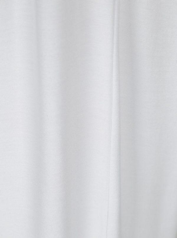 Biele voľné basic tričko Yest