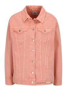 Ružová rifľová bunda SH Refente
