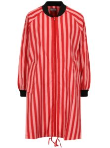 Červeno-ružová pruhovaná tenká bunda SH Realeza