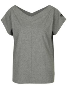 Sivé dámske basic tričko s véčkovým výstrihom Cheap Monday
