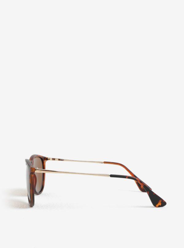 Hnedé unisex slnečné okuliare CHPO Roma