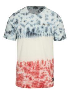 Biele vzorované tričko ONLY & SONS Tye