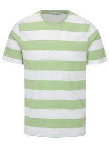 Bielo-zelené pruhované tričko ONLY & SONS Dontell