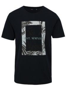 Tmavomodré tričko s potlačou ONLY & SONS Skylar