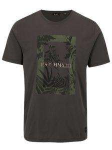 Sivé tričko s potlačou ONLY & SONS Skylar