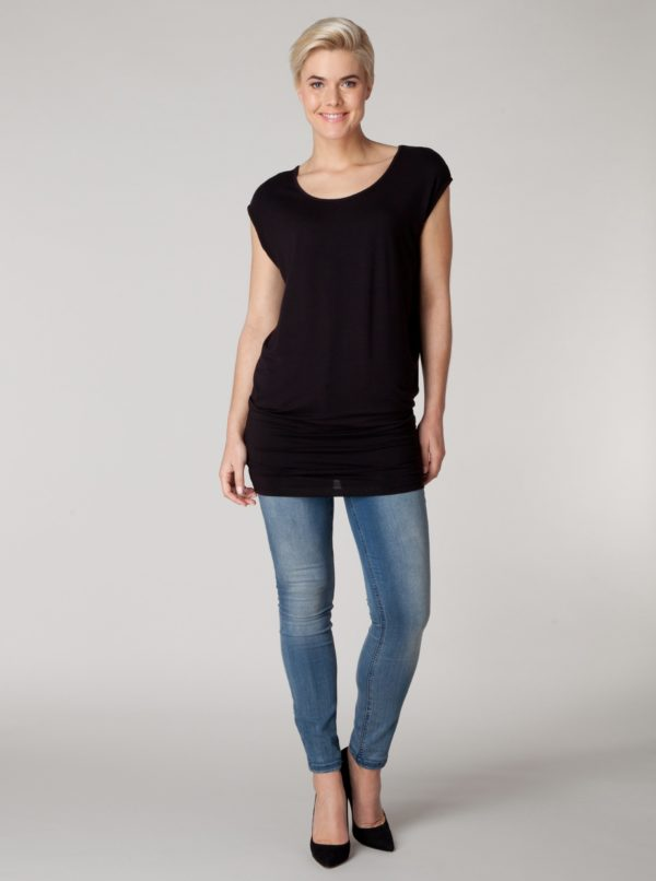 Čierne voľné tričko Yest