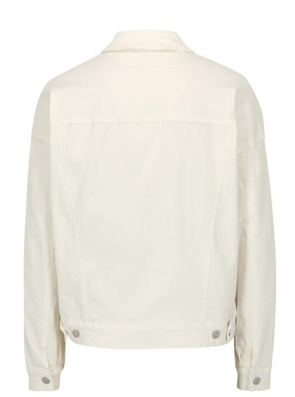 Biela rifľová bunda Jacqueline de Yong Cate Loose