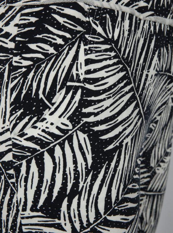 Bielo-čierne vzorované voľné tepláky Haily's Jada