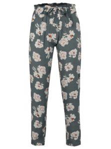 Sivé voľné kvetované nohavice Haily´s Ronja
