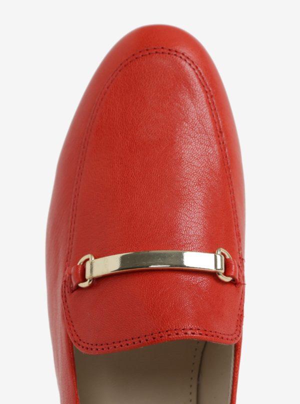 5fdca07948f00 Červené dámske kožené mokasíny Vagabond Eliza | Moda.sk