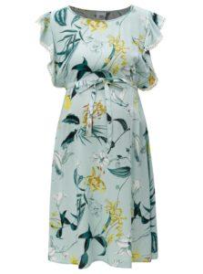 Svetlomodré kvetované tehotenské šaty Mama.licious Lemonade
