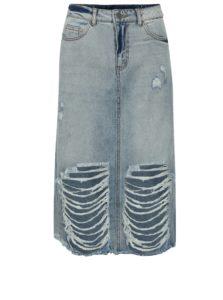dcac80d76b2a Modrá rifľová sukňa Noisy May Paige
