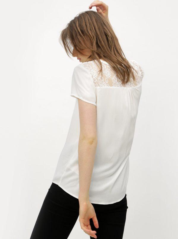 Biela blúzka s čipkovaným chrbtom VERO MODA Abby
