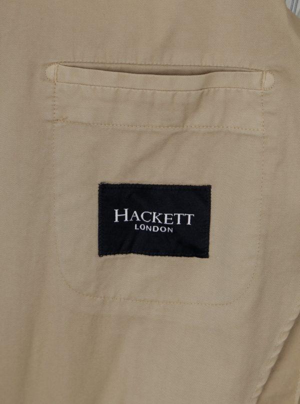 Béžové sako s vreckami Hackett London Memory