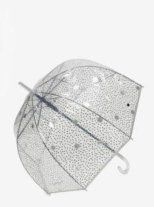 Transparentný bodkovaný vystreľovací dáždnik Esprit Lether dance