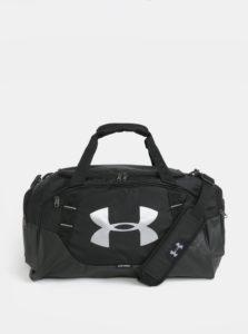Čierna športová vodovzdorná taška s reflexnými prvkami Under Armour