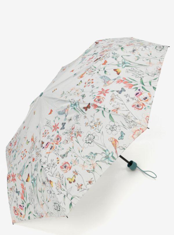 Svetlosivý kvetovaný dáždnik Esprit Super mini Valentine