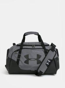 Čierno-sivá vodovzdorná športová taška Under Armour