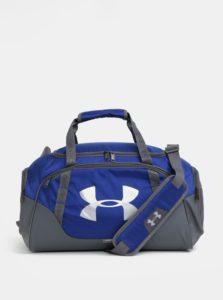 Sivo-modrá vodovzdorná športová taška Under Armour
