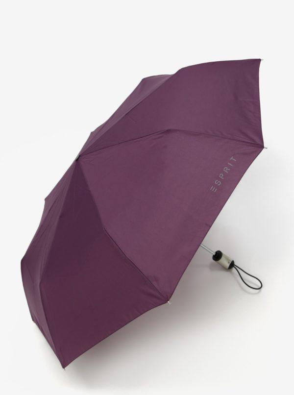 Fialový skladací vystreľovací dáždnik Esprit Easymatic