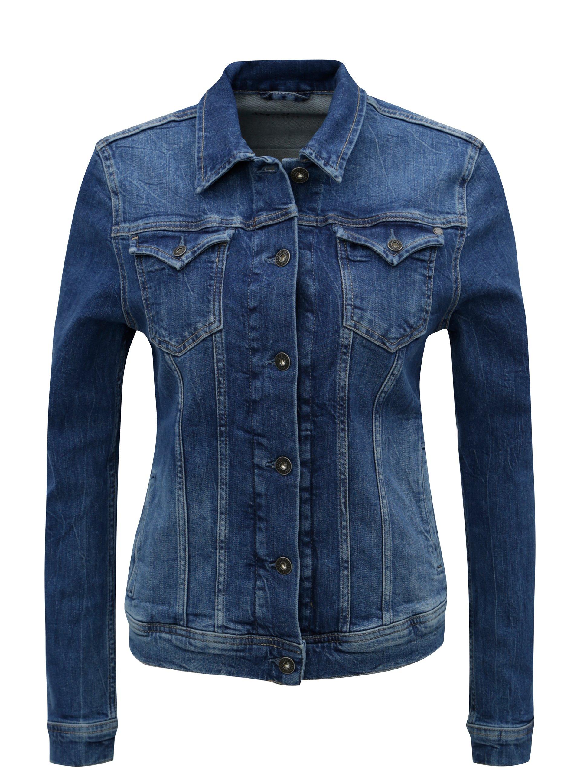 e88008adb83d Modrá dámska rifľová bunda Pepe Jeans Thrift