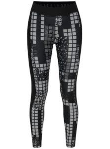 Čierne vzorované dámske športové legíny Under Armour