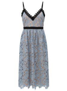 dde4d7516b5d Telovo–modré čipkované šaty Little Mistress