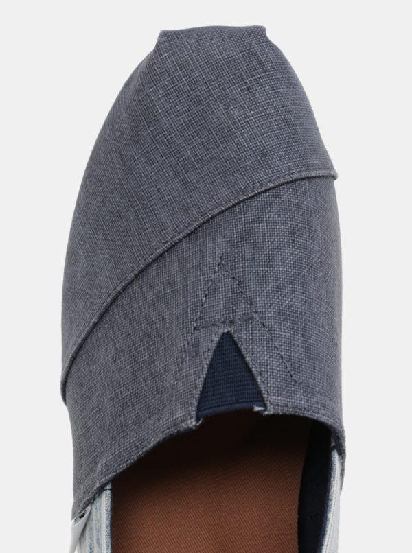 Modré rifľové pánske slip on TOMS