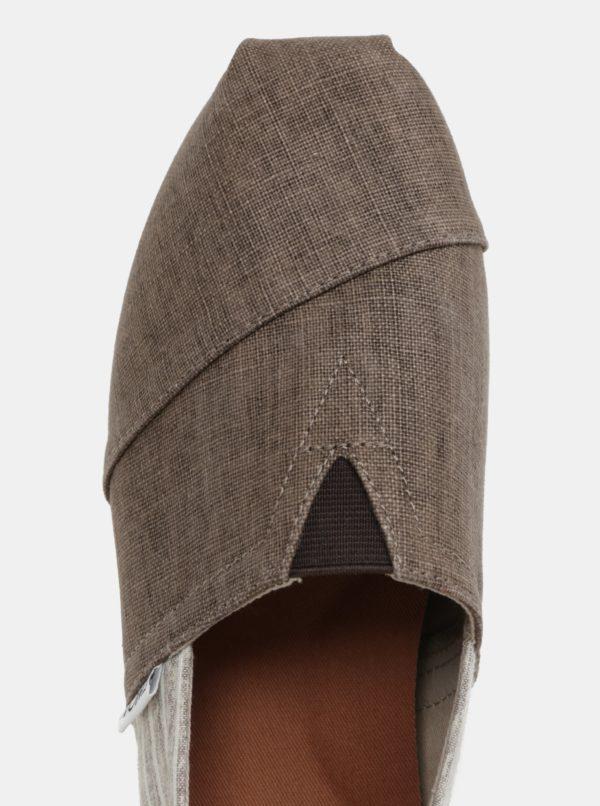 Hnedé vzorované pánske slip on TOMS