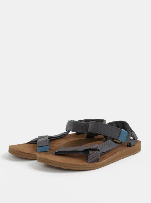 Tmavosivé pánske sandále Teva