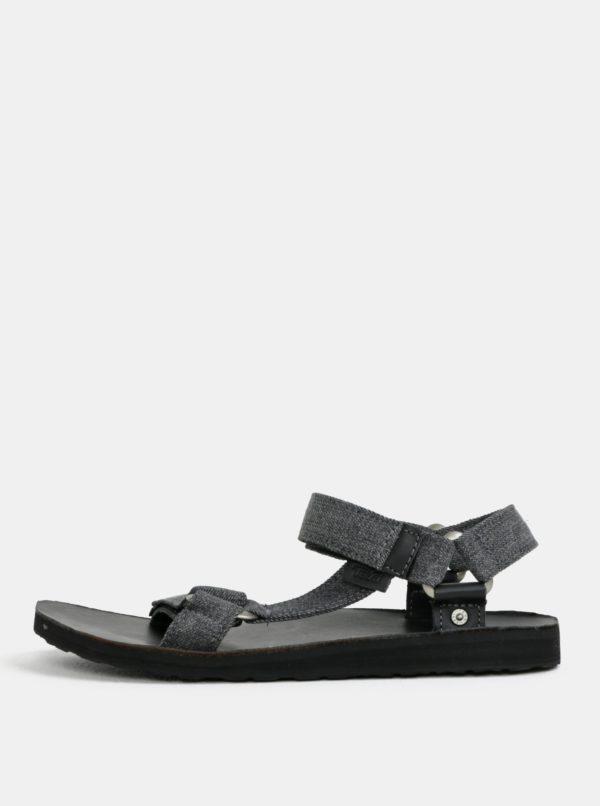 Tmavosivé pánske melírované sandále Teva