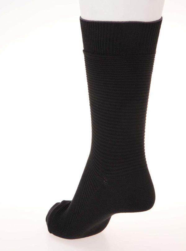 Súprava troch párov vrúbkovaných ponožiek v čiernej farbe Jack & Jones Fipo