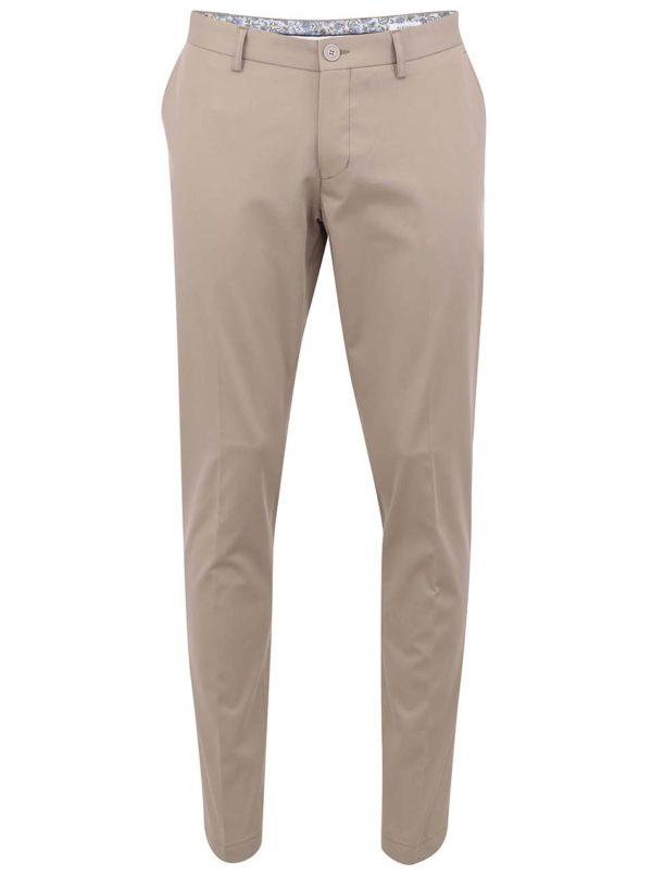 Béžové pánske chinos nohavice Bertoni
