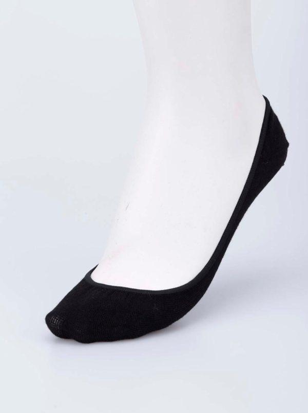 Čierne balerínkové ponožky Pieces