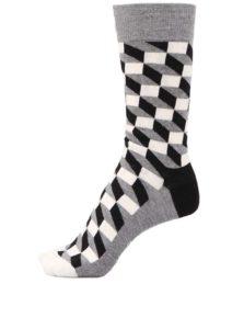 Ponožky v bielej, čiernej a sivej farbe Happy Socks Filled Optic