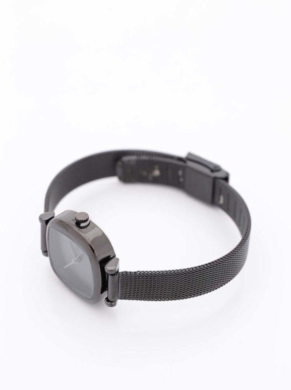 Čierne dámske hodinky s nerezovým remienkom Komono Moneypenny Royale