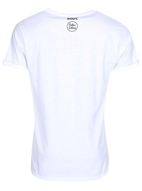 Biele pánske tričko s potlačou Belles Lettres