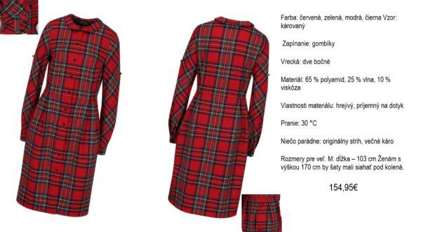 de2e0ce44518 Červené kárované šaty s golierom Bohemian Tailors Carola