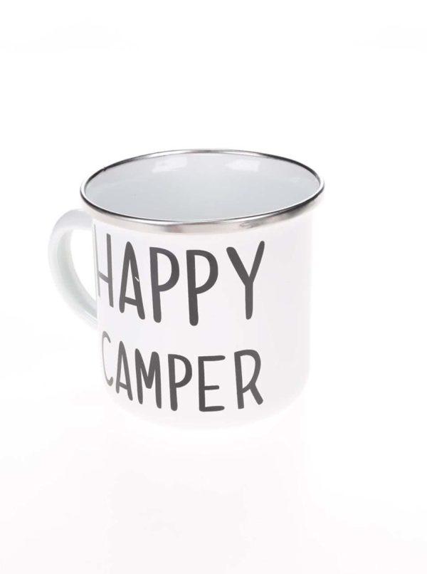 Biely plechový hrnček Sass & Belle Happy Camper