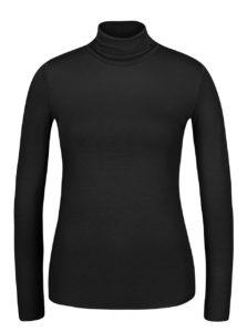 Čierne tričko s rolákom a dlhým rukávom ZOOT