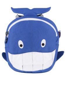 Bielo-modrý batoh v tvare veľryby Affenzahn